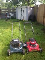 2 push lawnmowers 50 bucks a piece