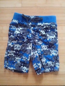 Skull shorts, 100% cotton 3T
