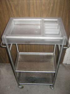 Ikea Racken stainless steel kitchen / utility trolley