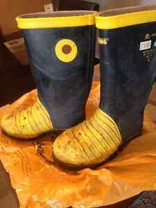 Miner 49ers steel toe rubber boots