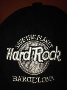 HARD ROCK CAFE BARCELONA BLACK BASEBALL HAT-LOVE ALL SERVE ALL