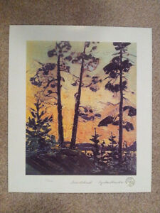 "Limited Edition ""Pines at Sunset"" by Tom Thomson London Ontario image 5"