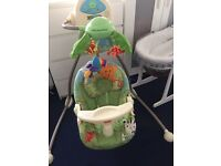 Fisher price cradle and swing - rainforest open to offers