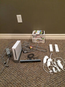 Wii Console, Controllers, Games, RockBand and Balance Board