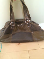 Like New Faux Leather Patchwork Matt & Nat Purse