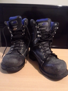 Steel Toed Work Boots Size 10