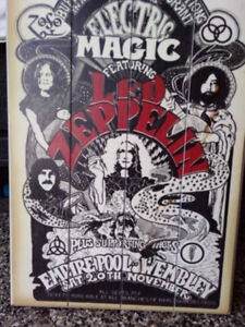 Led Zeppelin Wall Hanging and cello music book