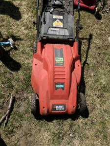 Battery Powered Lawn Mower - Black and Decker