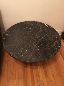 Table antique WEIMAN marbre — WEIMAN antique marble round table