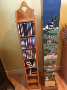 2 Wooden CD Towers