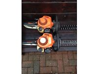 Stihl hs45 hedge trimmers both working perfect small set need a blade nut n bolt