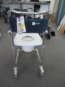 #6B AMG MED PRO Portable toilet COMMODE SHOWER CHAIR NEW