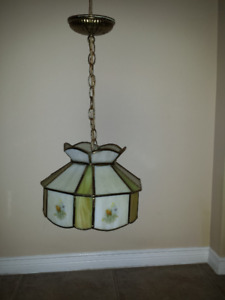 Tiffany Stained Glass Hanging Lamp .. All hardware included