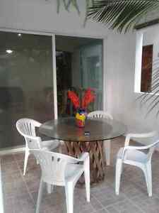 2 BR 2 BR Condo ground floor.- downtown playa del carmen