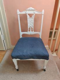 Navy Edwardian Bedroom Chair
