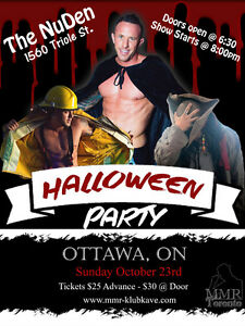 Halloween LADIES NIGHT! Magic Male Revue @ NuDen!