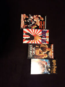 Four VHS movies for sale