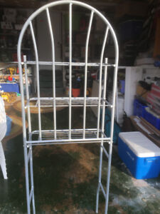 SILVER GREY METAL STORAGE RACK FOR SALE