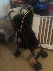Black & yellow stroller