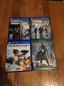 PS4 / XBOX ONE GAMES FOR SALE