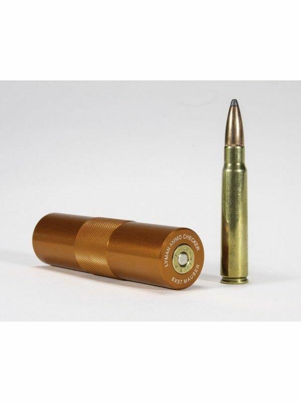 Lyman Ammo Checker Single Caliber, 8mm x 57 Mauser, Orange