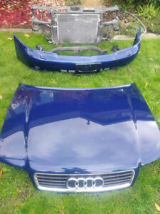 1999 Audi A4 Hood Bumper Rad and Support