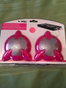 Brand new pink speakers