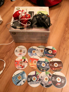 Xbox360 two extra controller and 12 games