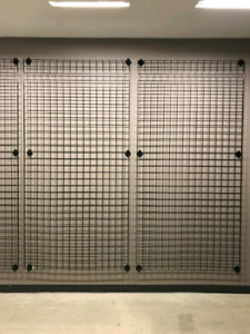 Gridwall panels /Mesh installed on walls for hang/display items