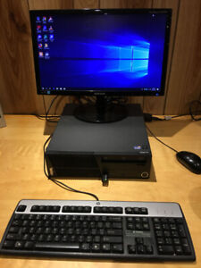 Fast Lenovo i3 8GB 500GB desktop computer Windows 10 + monitor