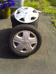 4 Winter Tires, Rims, Covers 2005 Toyota Echo $450 863-3431