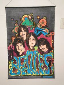 """Vintage velvet """"The Beatles"""" poster 1975 Dynamic Collectibles"""