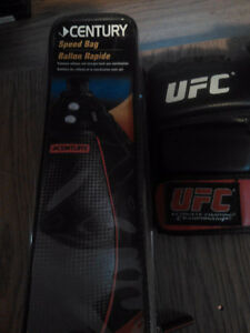 Selling a speed bag and ufc gloves