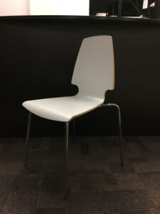 IKEA VILMAR Stacking Side/Guest Chair in White