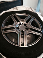 Mercedes GLK snow tires (4) on rims (winter mats included)