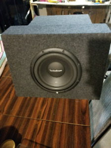 """10"""" sub woofer in box."""