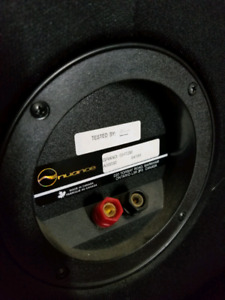 Nuance tower, centre, rear speakers. Amp & audio receiver