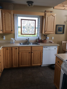 Complete kitchen for sale including appliances & cupboards!