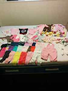 50+ pcs of baby girl clothes (3-6 mo)