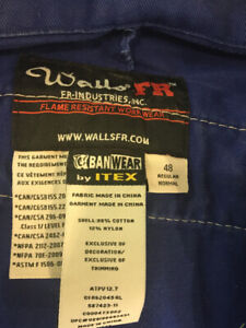 Men's Coveralls Size 48 Long Sleeved