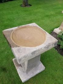 Yorkshire stone bird bath