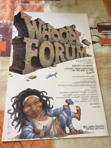 WHOOPI GOLDBERG AUTOGRAPHED FORUM POSTER