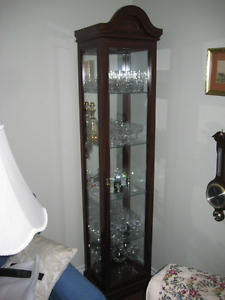 Dark Brown Curio Cabinet