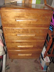 Solid Wood Refinished 4 Drawer Dresser