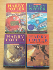 Harry Potter softcover books 1-4