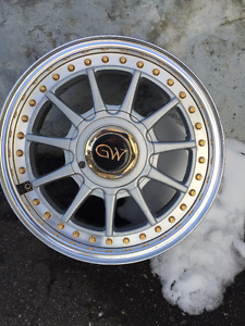 """15""""GW aluminum wheels EXC condition"""