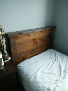 "Mennonite Built Single/Twin ""Rough Sawn"" Panel Bed Complete"