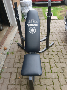 York Adjustable weight bench and rack  $50