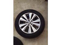 """*SOLD*VW Alloys 16"""" rims with tyres Golf MK7 MK6 polo passat touran"""