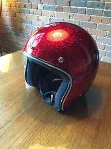 Casque de moto/scooter Biltwell couleur rouge vin L Cafe racer